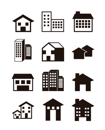 silhouette houses over white background. vector illustration Vector