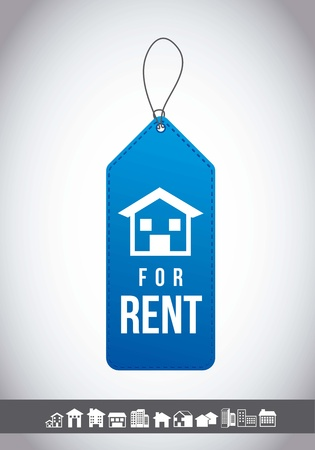 for rent label with gray background. vector illustration Vector