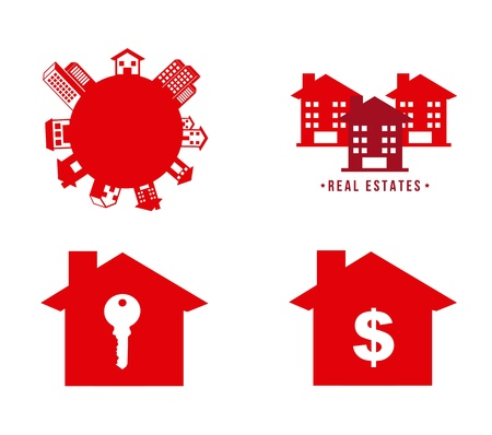 real estates icons over white background. vector illustration Stock Vector - 16700597