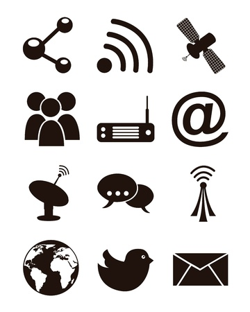communication icons over white backgroud. vector illustration Stock Vector - 16701850