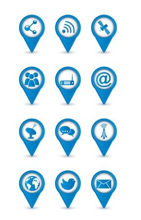 communication icons over white backgroud. vector illustration Stock Vector - 16701844