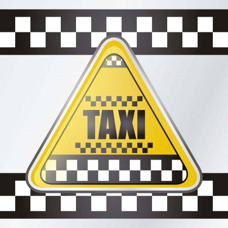 Taxi icon triangle for sign, vector illustration Vector