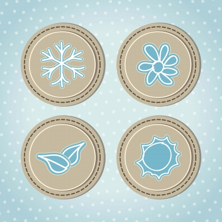 retro seasons Icons with vintage background, vector illustration Vector