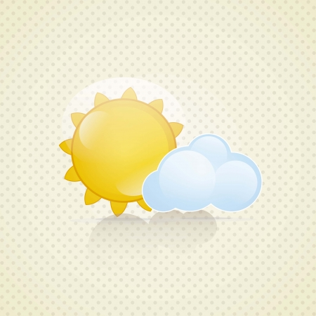 Weather Icon with vintage background, vector illustration Stock Vector - 16702966
