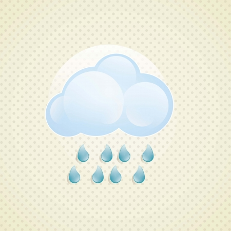 Weather Icon with vintage background, vector illustration Stock Vector - 16703280
