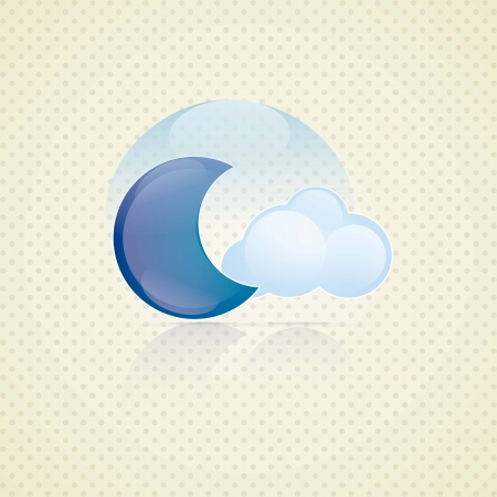 Weather Icon with vintage background, vector illustration Stock Vector - 16703285