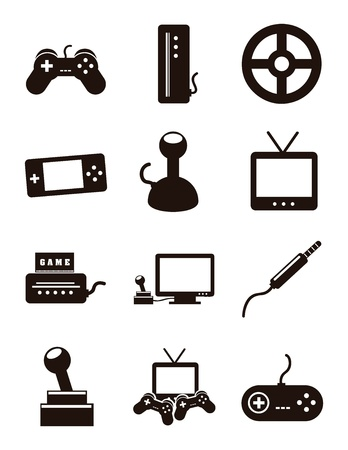 personal data assistant: video game icons over white background. vector illustration