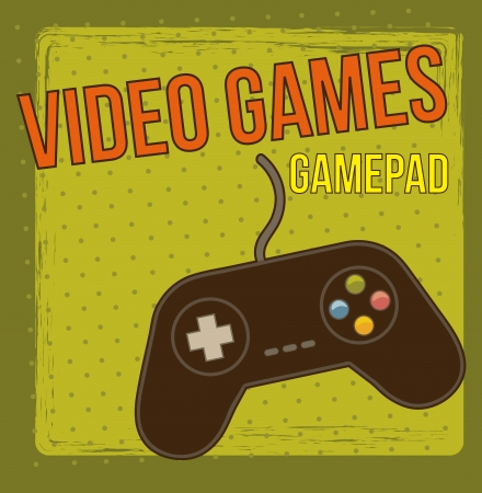 gamepad over vintage background. vector illustration Vector