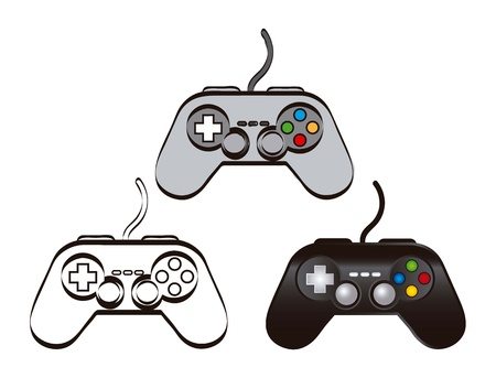 gamepad over white background. vector illustration Vector