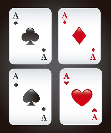 Playing cards over black background. vector illustration Stock Vector - 16841296