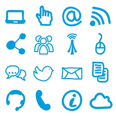 communication signs over white background. vector Stock Vector - 16841138