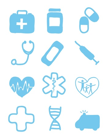 medical icons over white background. vector illustration Stock Vector - 16841092