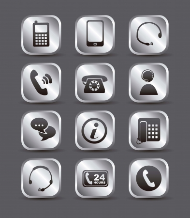 movile icons over gray background. vector illustration Vector