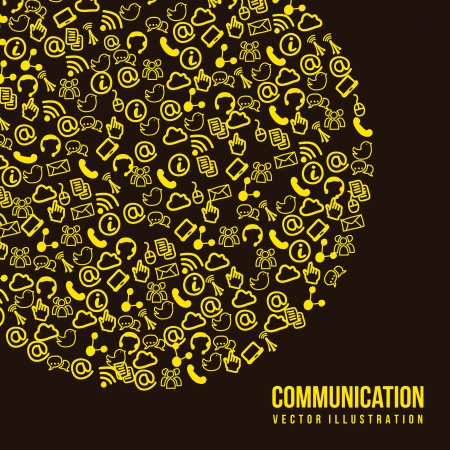 communication signs over black background. vector Stock Vector - 16841474