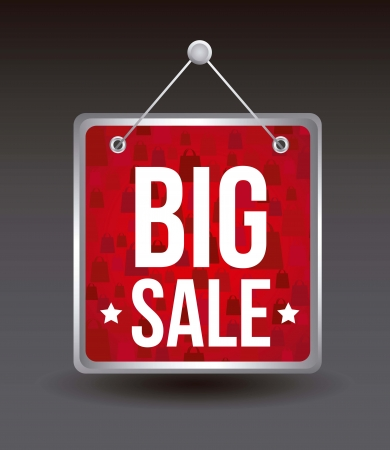 big sale announcement over black background. vector Vector