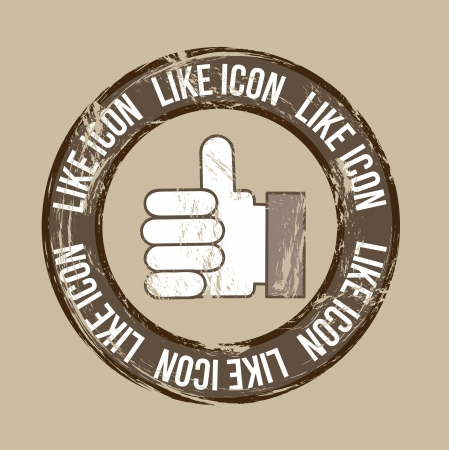 like icon over vintage background. vector illustration Stock Vector - 16841525