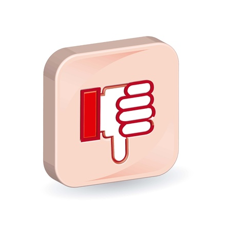 unsuccess: 3d unlike icon over white background.vector illustration Illustration
