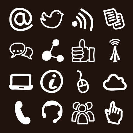 communication signs over black background. vector Stock Vector - 16841229