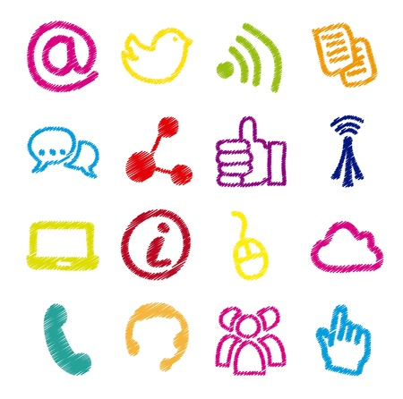 communication signs over white background. vector Stock Vector - 16841480