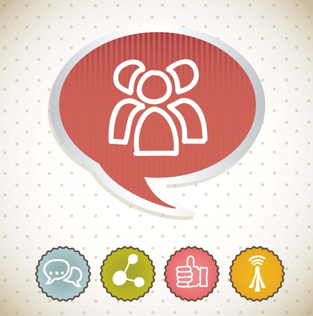 communication signs over beige background. vector Stock Vector - 16841511