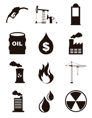 oil icons over white background. vector illustration