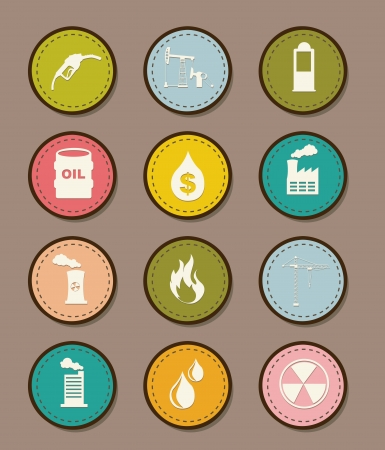 oil icons over brown background. vector illustration Stock Vector - 16841242