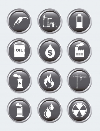 oil icons over gray background. vector illustration Vector