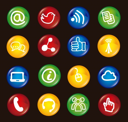 communication signs over black background. vector Stock Vector - 16841501