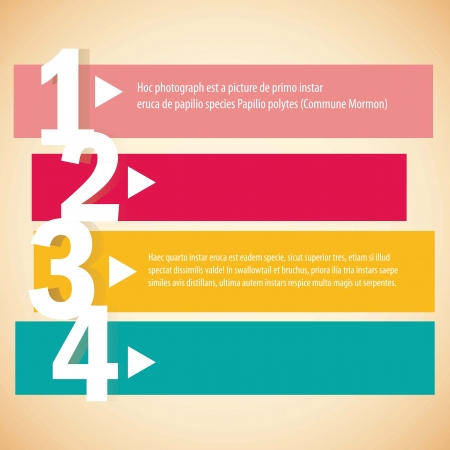 numbering: Numbering in colored lines, step by step. vector illustration Illustration