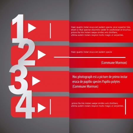 Design template  horizontal red lines. Vector illustration Vector
