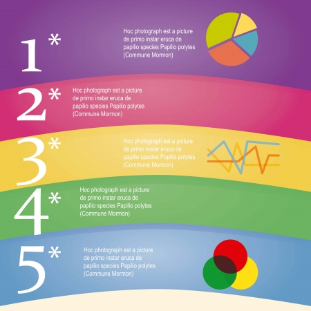 Numbers Brochure Iris lines, Ideal for info graphics, stylish graphs and histograms.