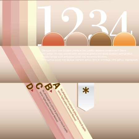 Soft color Design template, for infographics, numbered banners  Vector