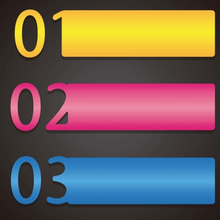 math set: Colorful numbers Icons on black background. Vector illustration