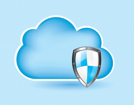 Security icons over cloud background vector illustration Vector