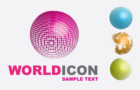 World icons over white background vector illustration Stock Vector - 16997743