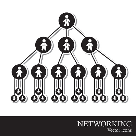 Networking of people over white background vector illustration Stock Vector - 16997250