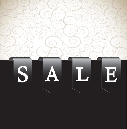Label sale over white and black background vector illustration Stock Vector - 16997522