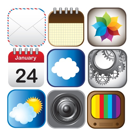technological application icons over white background vector illustration Vector