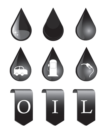 oil icons over white background vector illustration   Vector
