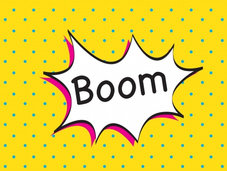 boom icon over yellow background vector illustration Vector