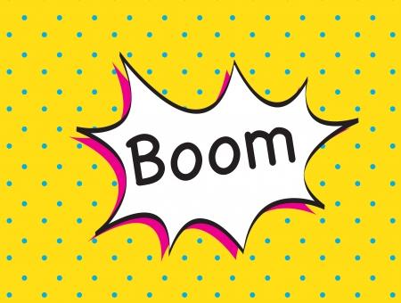 g�lle: boom-Symbol auf gelbem Hintergrund Vektor-Illustration