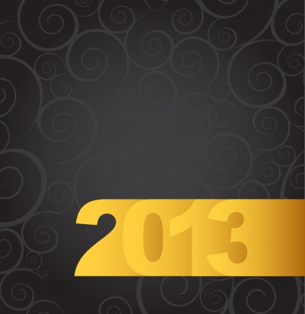 New year gold over black background vector illustration Stock Vector - 16996994