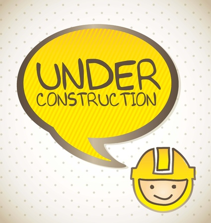 under construction background, cartoon. vector illustration Vector
