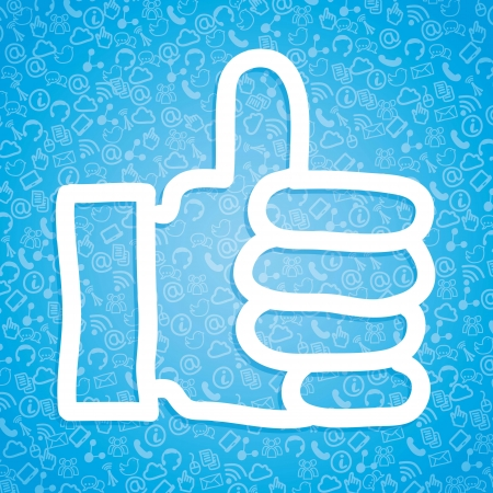 like icon over blue background. vector illustration Stock Vector - 16997701