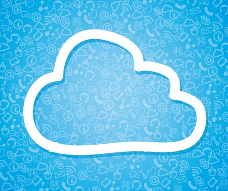 cloud computin illustration over blue background. vector Stock Vector - 16997690