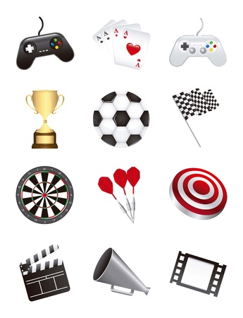 games icons isolated over white background. vector illustration Stock Vector - 16997402