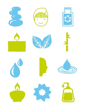 well being: spa icosn over white background. vector illustration