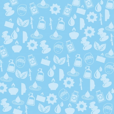 spa icosn over blue background. vector illustration Vector