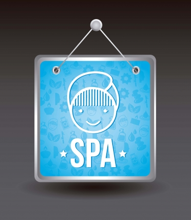 spa icosn over black background. vector illustration Stock Vector - 16997358