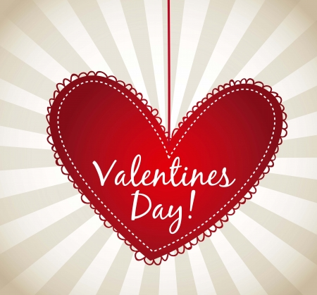 valentines day card over beige background. vector illustration Stock Vector - 16997549